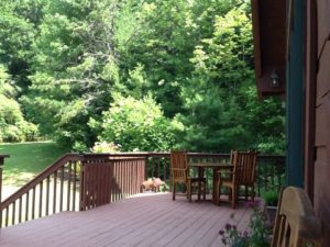 falling water farm vacation rental front porch