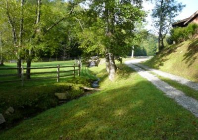 falling water farm vacation rental approach view