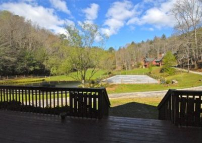 falling water farm vacation rental view of pasture and small arena