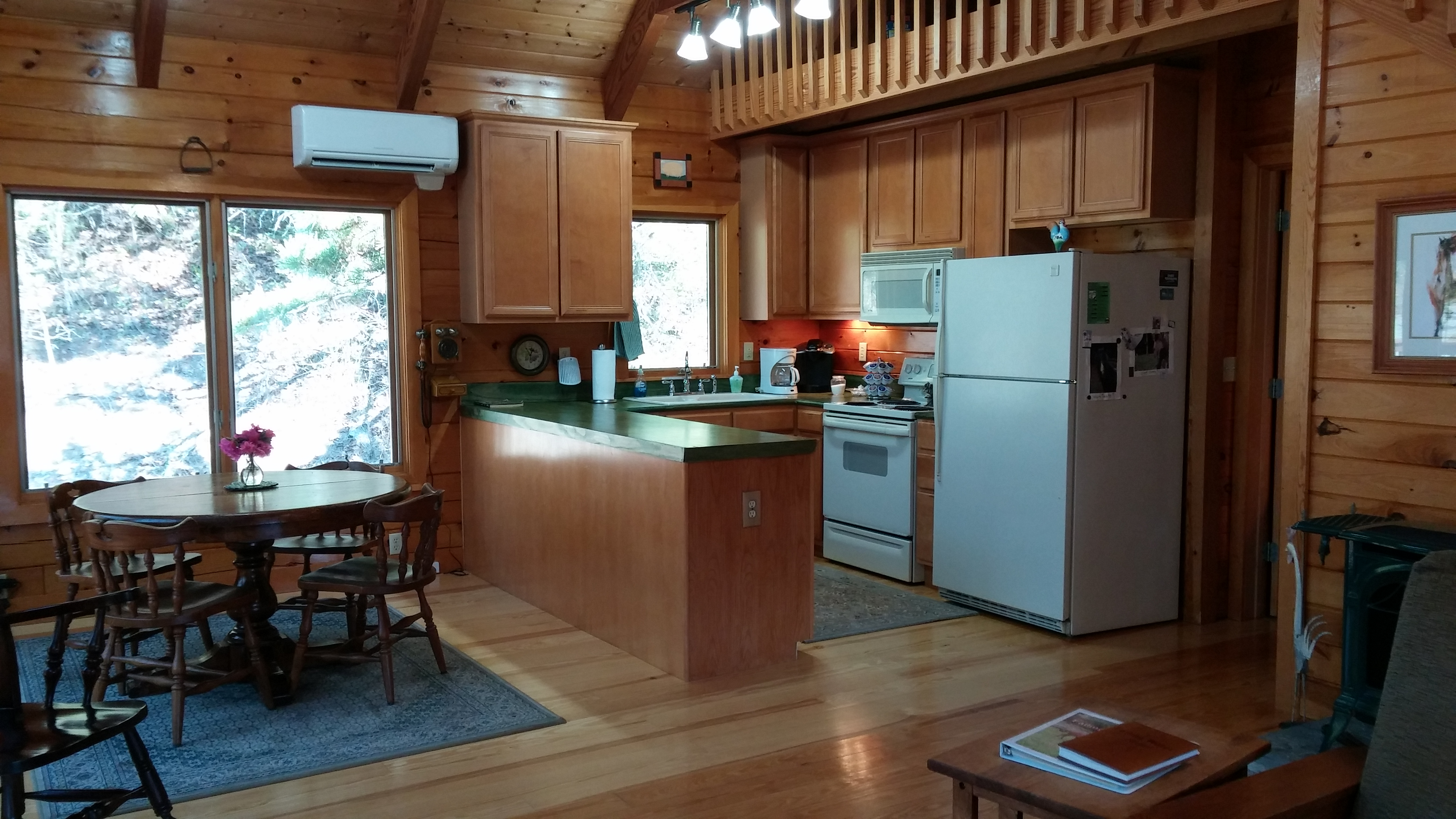 Falling Water Farm - cabin's kitchen
