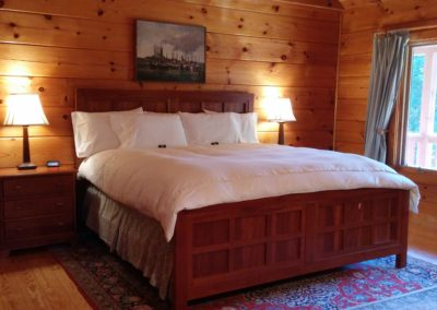 falling water farm vacation rental master suite with king size bed