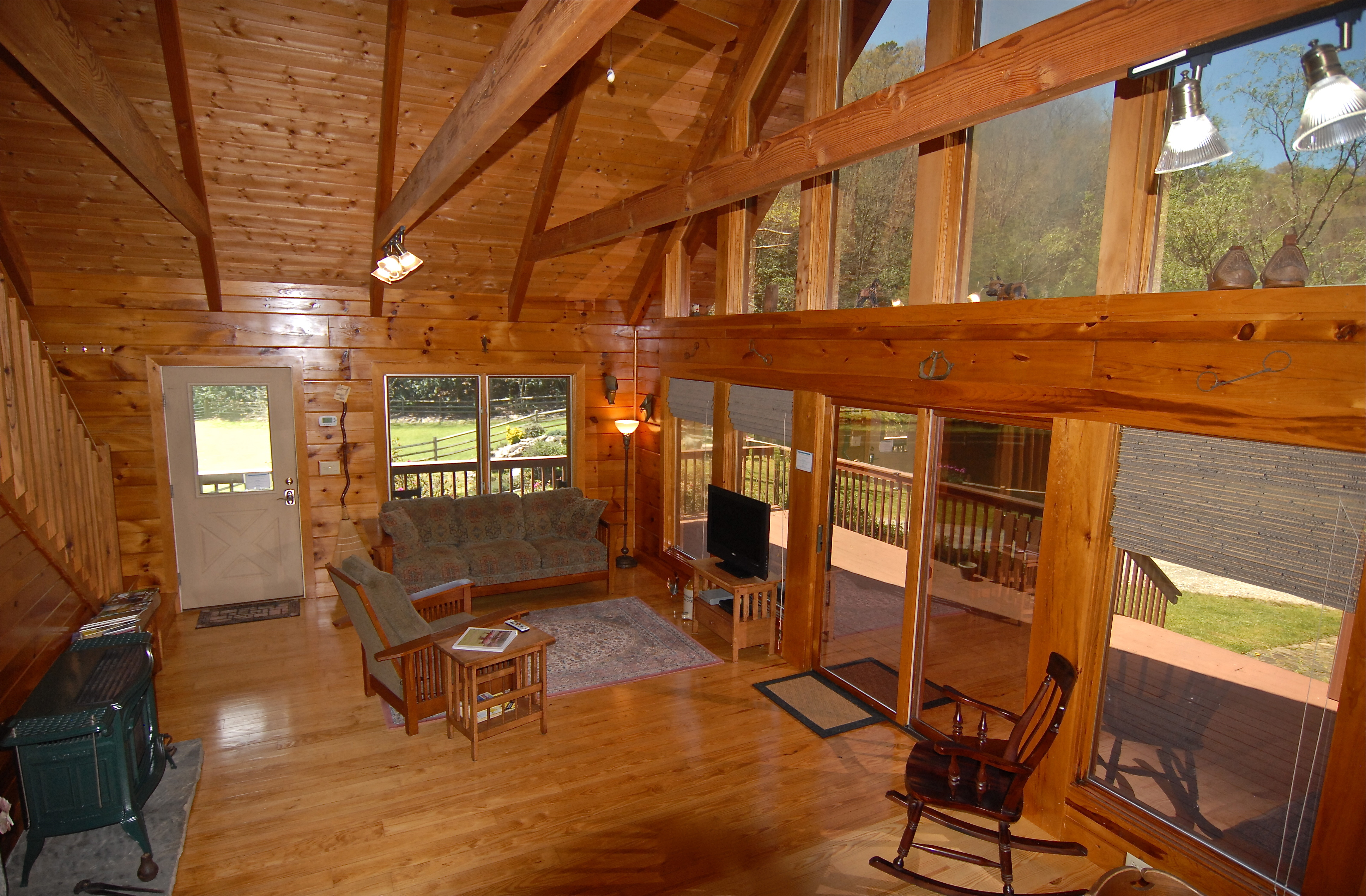 house tree property cabins brevard in foxes nc amenities outside seven at